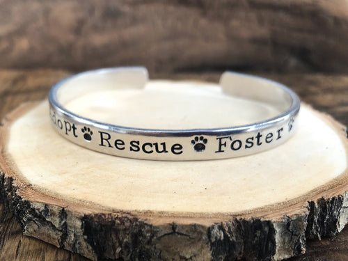 'ADOPT RESCUE FOSTER' GRAND STRAND FUNDRAISING BRACELET