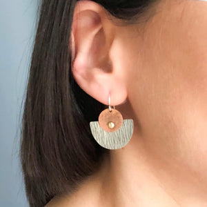 MINIMAL RUSTIC GEOMETRIC EARRINGS