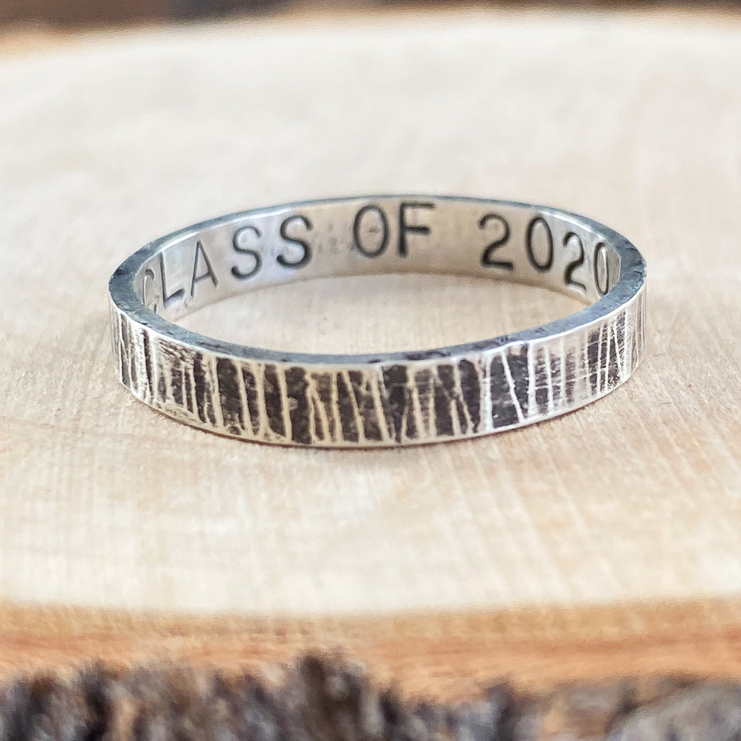 ANTIQUED GRAD RING