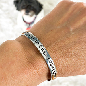 'WE'RE ALL IN THIS TOGETHER' COCO'S HEART DOG RESCUE FUNDRAISING BRACELET
