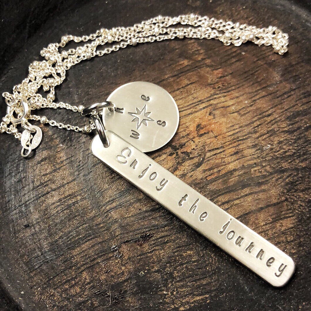ENJOY THE JOURNEY STERLING NECKLACE