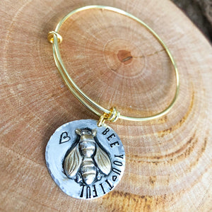 BEE YOUTUFUL GOLD BANGLE BRACELET