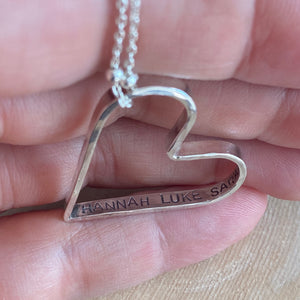 STERLING HEART WITH SECRET MESSAGE