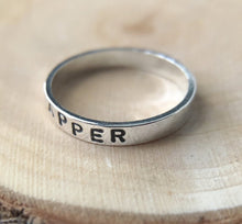 PERSONALIZED STERLING SILVER  RING