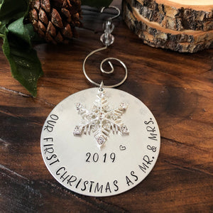 READY MADE NEWLYWED ORNAMENT