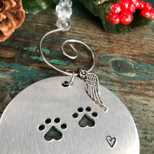 2020 BIG FLUFFY DOG RESCUE PAWPRINT FUNDRAISING ORNAMENT