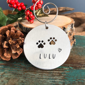 SAVING ST. LOUIS PETS PAWPRINT FUNDRAISING ORNAMENT