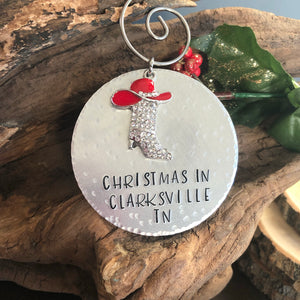 PERSONALIZED HOMETOWN ORNAMENT