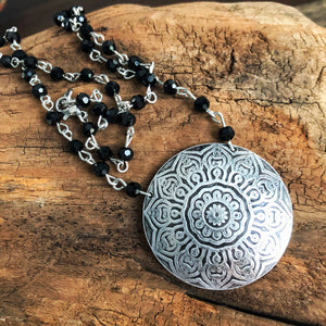 SUNBURST MANDALA NECKLACE