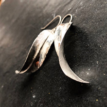 SILVER BOHO LEAF EARRINGS