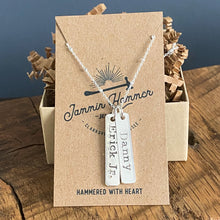 PERSONALIZED VERTICAL STERLING BAR PENDANT