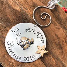 PERSONALIZED BEE MERRY ORNAMENT