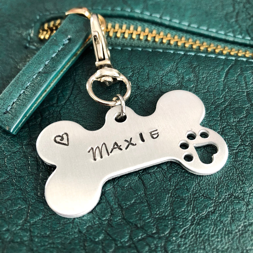 BIG FLUFFY DOG RESCUE FUNDRAISING KEYCHAIN