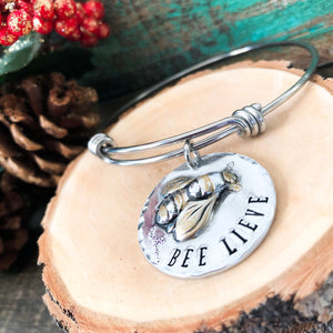 BEE LIEVE BANGLE BRACELET