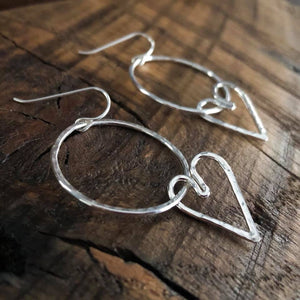HOOPY HEART DANGLE EARRINGS