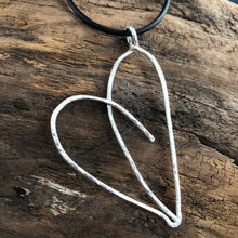 LARGE HEART IN STERLING SILVER