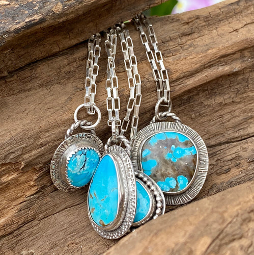 SILVER AND TURQUOISE PENDANT