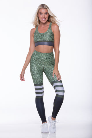Hunter Green Stripes Set