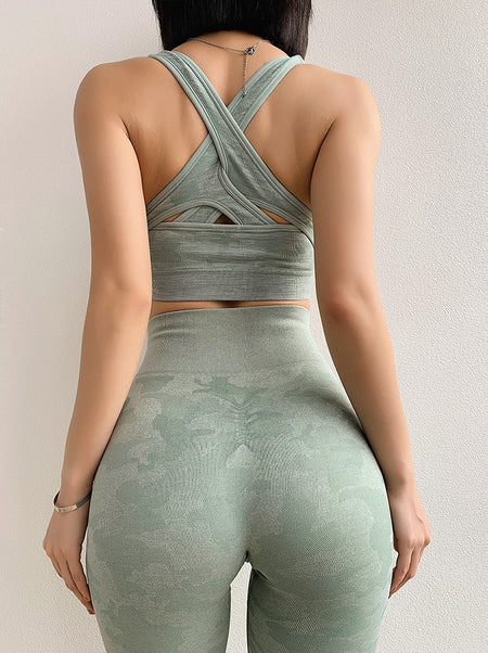 Light Green Camo Seamless Legging