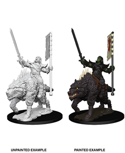 Pathfinder Deep Cuts: Orc On Dire Wolf