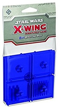 X-Wing Bases and Pegs Blue - X-Wing - The Hooded Goblin