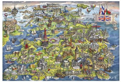 Beautiful Britain - 500pc Jigsaw Puzzle by Gibson