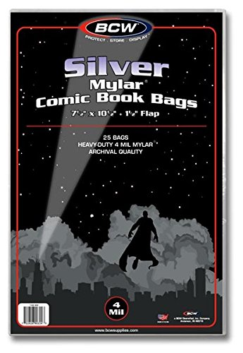 Mylar Comic Book Bags Silver - Comic Supplies - The Hooded Goblin