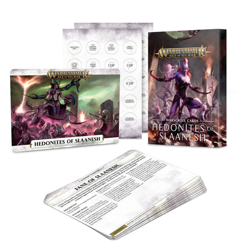 Warscroll Cards: Hedonites of Slaanesh - Warhammer: Age of Sigmar - The Hooded Goblin