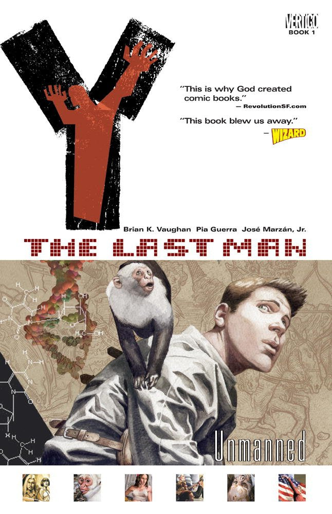Y: The Last Man, Vol. 1: Unmanned Paperback - Graphic Novel - The Hooded Goblin