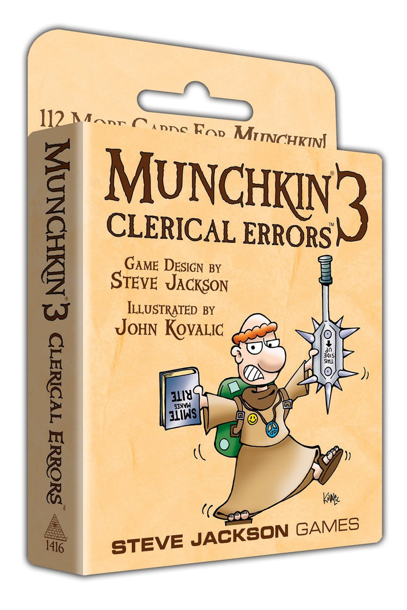 Munchkin Clerical Errors - Card Game - The Hooded Goblin