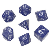 Q Workshop: Classic RPG Dice Set - Cobalt And White