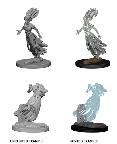 D&D Nolzur's Marvelous Unpainted Miniatures: Ghost & Banshee (2) - Roleplaying Games - The Hooded Goblin