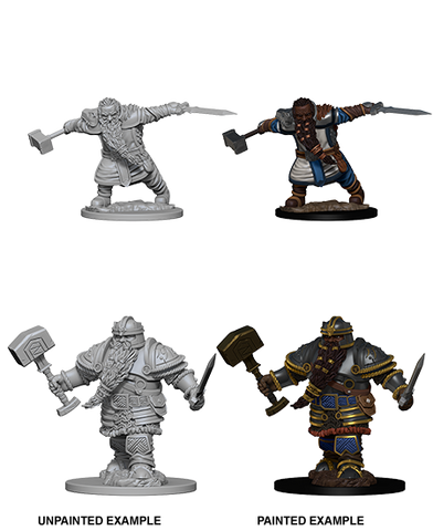DND UNPAINTED MINIS WV 1 DWARF MALE FIGHTER (144)