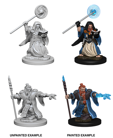 DND UNPAINTED MINIS WV 1 DWARF MALE WIZARD (144)