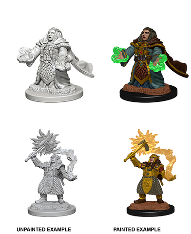 DND UNPAINTED MINIS WV 4 DWARF FEMALE CLERIC (144)