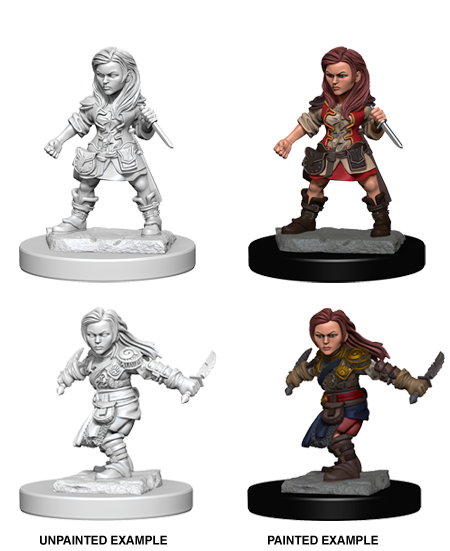 DND UNPAINTED MINIS WV 1 HALFLING FEMALE ROGUE - Dungeons and Dragons - The Hooded Goblin
