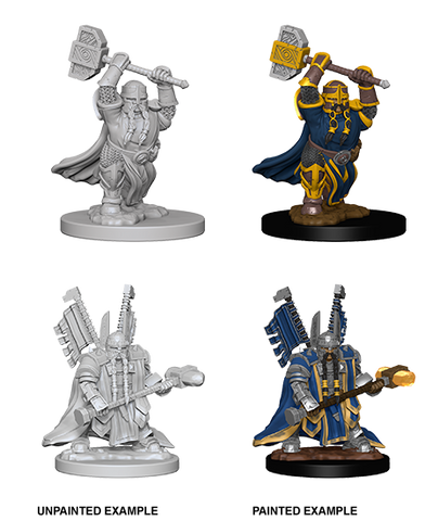 DND UNPAINTED MINIS WV 4 DWARF MALE PALADIN (144)