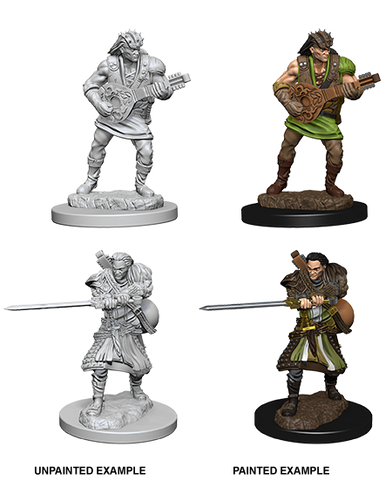 DND UNPAINTED MINIS WV 4 HUMAN MALE BARD (144)