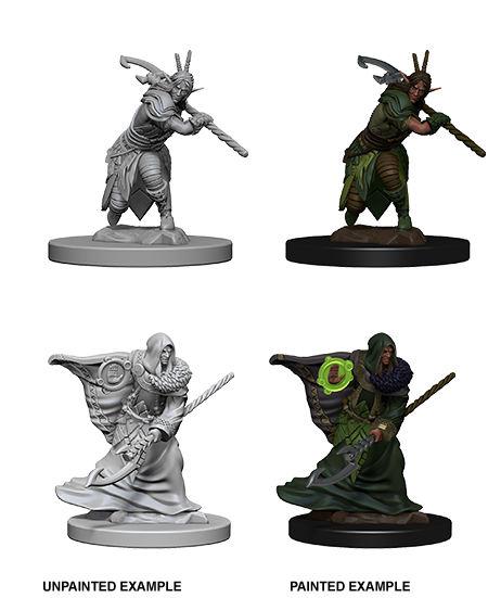 DND UNPAINTED MINIS WV 4 ELF MALE DRUID (144) - Roleplaying Games - The Hooded Goblin