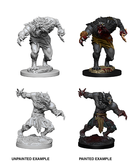 Dnd Unpainted Minis Wv 4 Werewolves (144) - Roleplaying Games - The Hooded Goblin