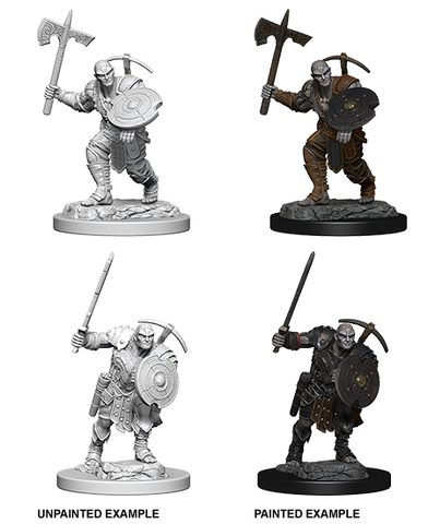 DND UNPAINTED MINIS WV 4 EARTH GENASI MALE FIGHTER