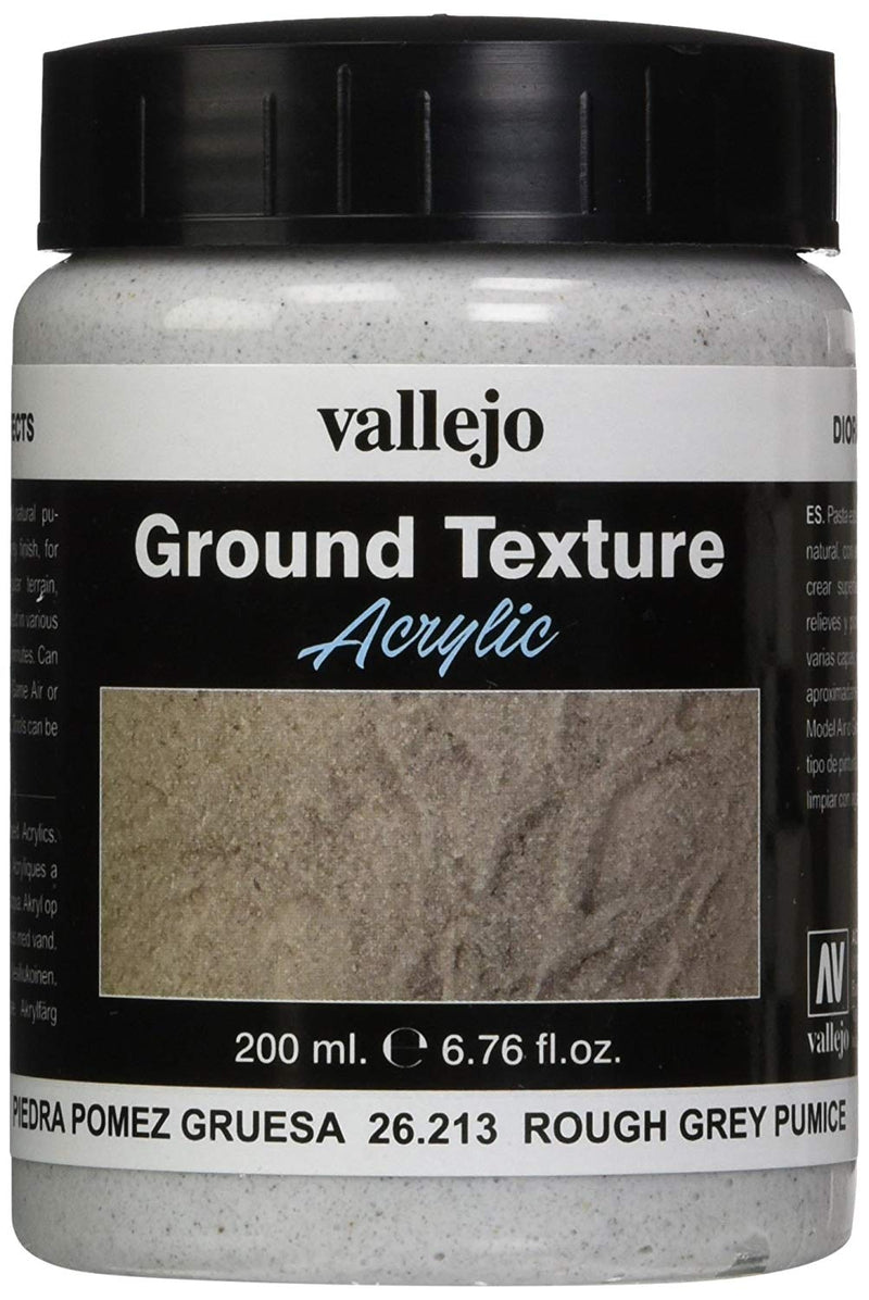 Vallejo Rough Grey Pumice, 200ml - Painting Supplies - The Hooded Goblin