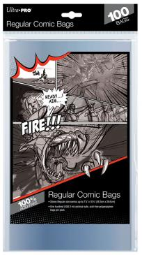 Ultra Pro Regular Sized Comic bags - Comic Supplies - The Hooded Goblin