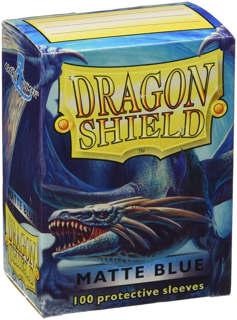 Dragon Shields Matt Blue - Card Supplies - The Hooded Goblin