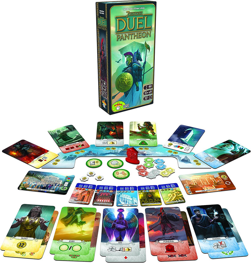 7 Wonders Duel: Pantheon - Card Game - The Hooded Goblin