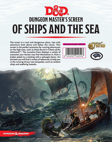 Dungeons & Dragons - of Ships & The Sea DM Screen