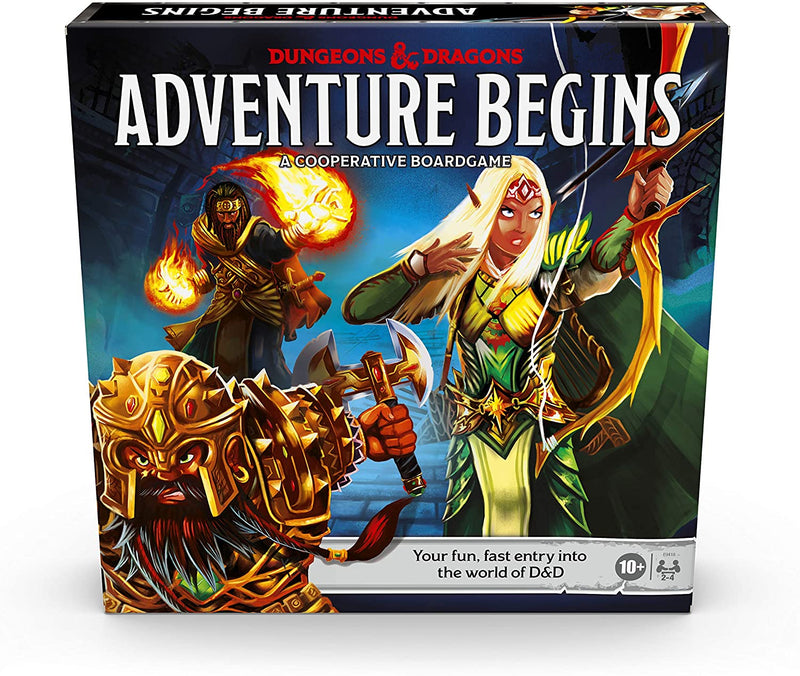 Dungeons & Dragons Adventure Begins, Cooperative Fantasy Board Game, Fast Entry To The World Of D&D, Family Game For Ages 10 And Up - Board Game - The Hooded Goblin