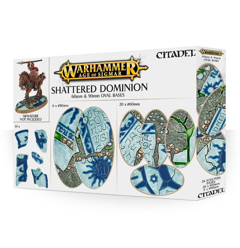 Shattered Dominion 60 & 90Mm Oval Bases - Warhammer: Age of Sigmar - The Hooded Goblin