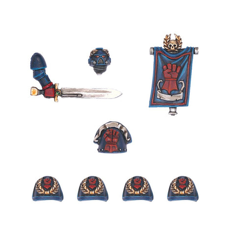 Crimson Fists Command Squad Upgrade Pack