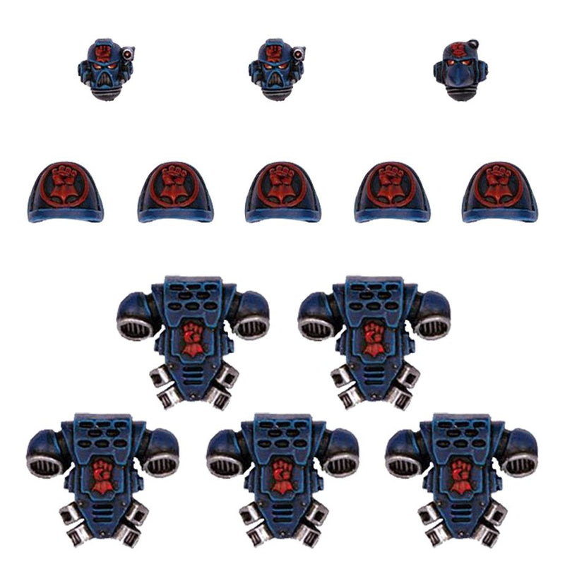 Crimson Fists Tactical Squad Upgrade Pack - Warhammer: 40k - The Hooded Goblin